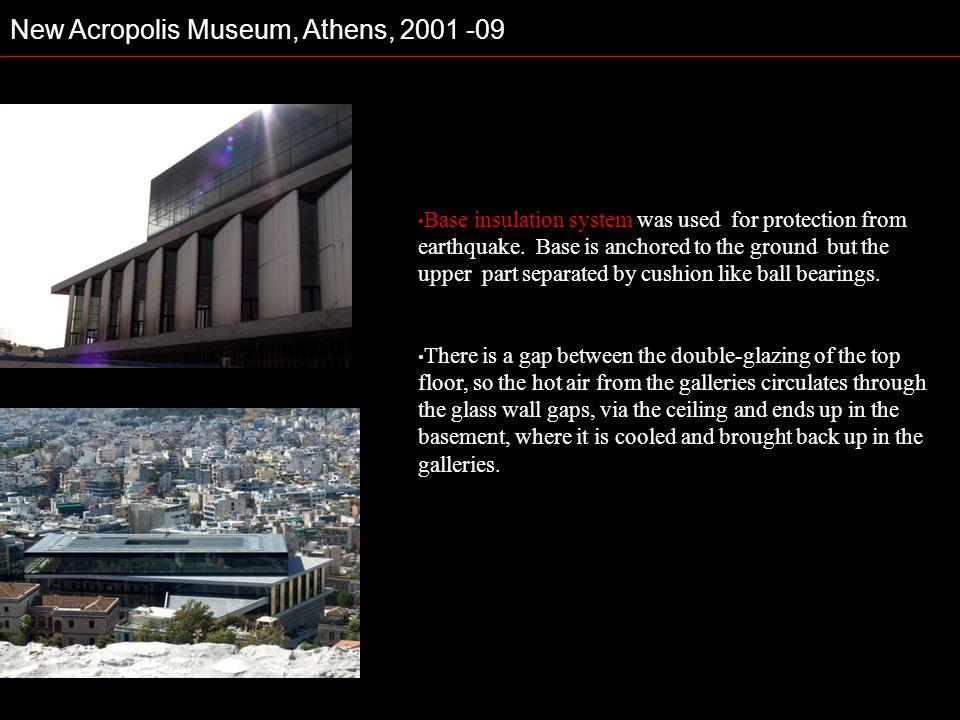 New Acropolis Museum, Athens, 2001 -09