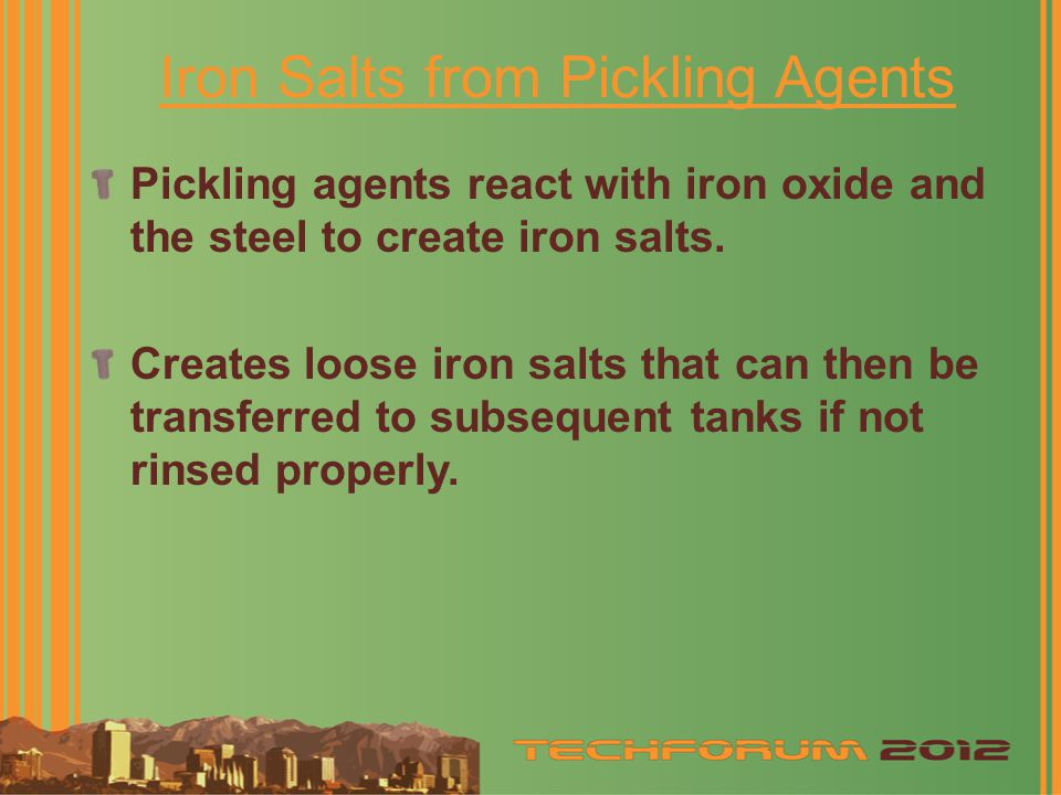 Iron Salts from Pickling Agents