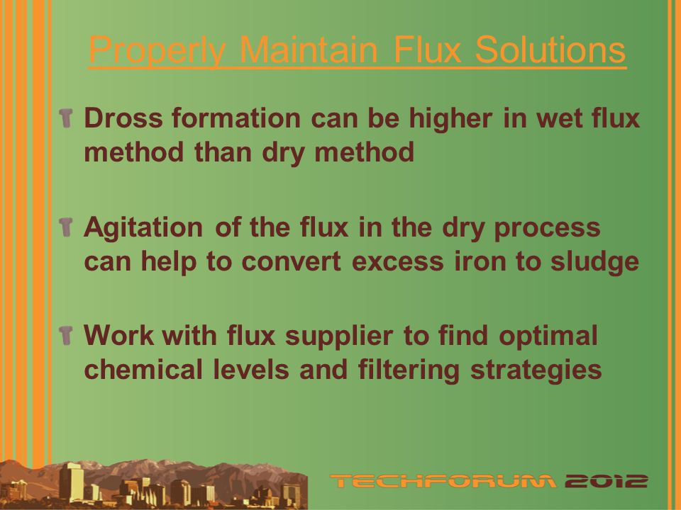 Properly Maintain Flux Solutions