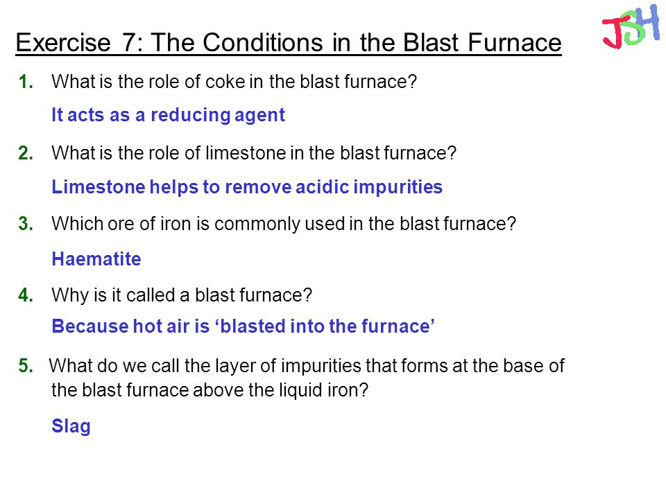 Exercise 7: The Conditions in the Blast Furnace