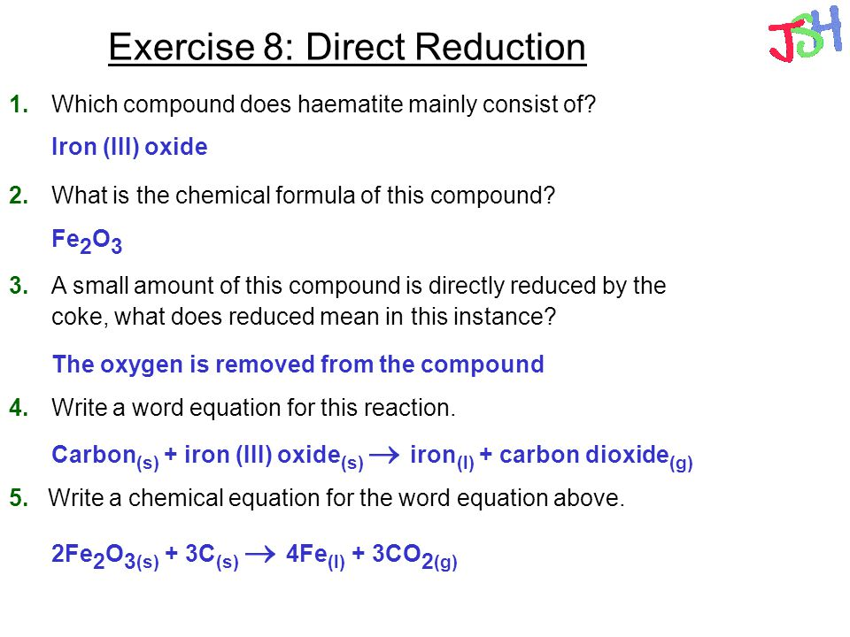 Exercise 8: Direct Reduction