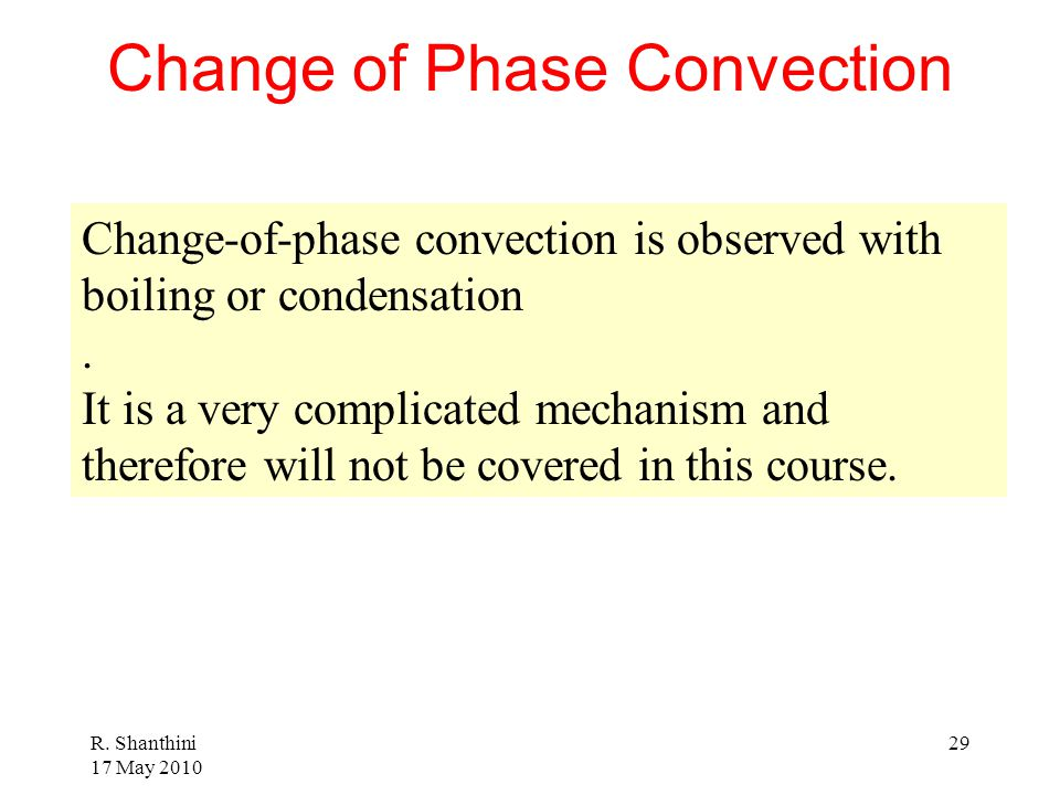 Change of Phase Convection