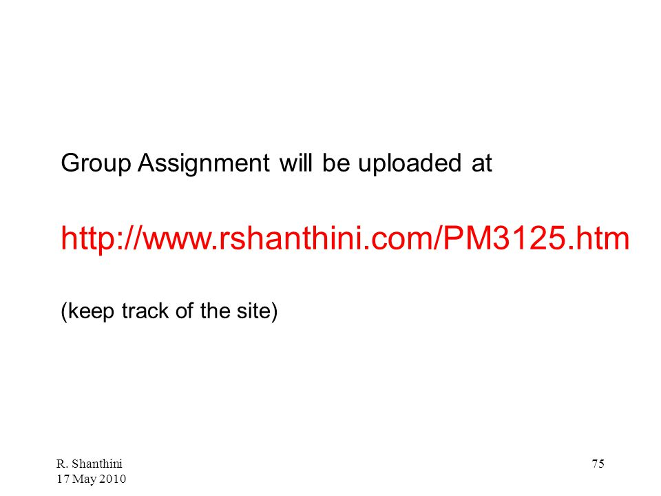 Group Assignment will be uploaded at