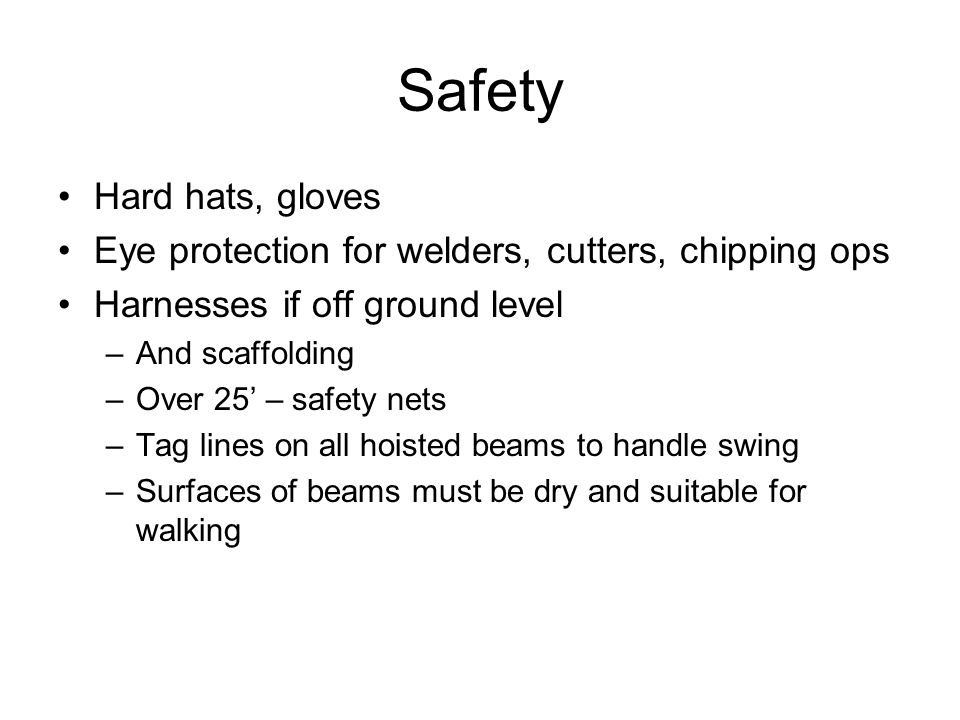 Safety Hard hats, gloves