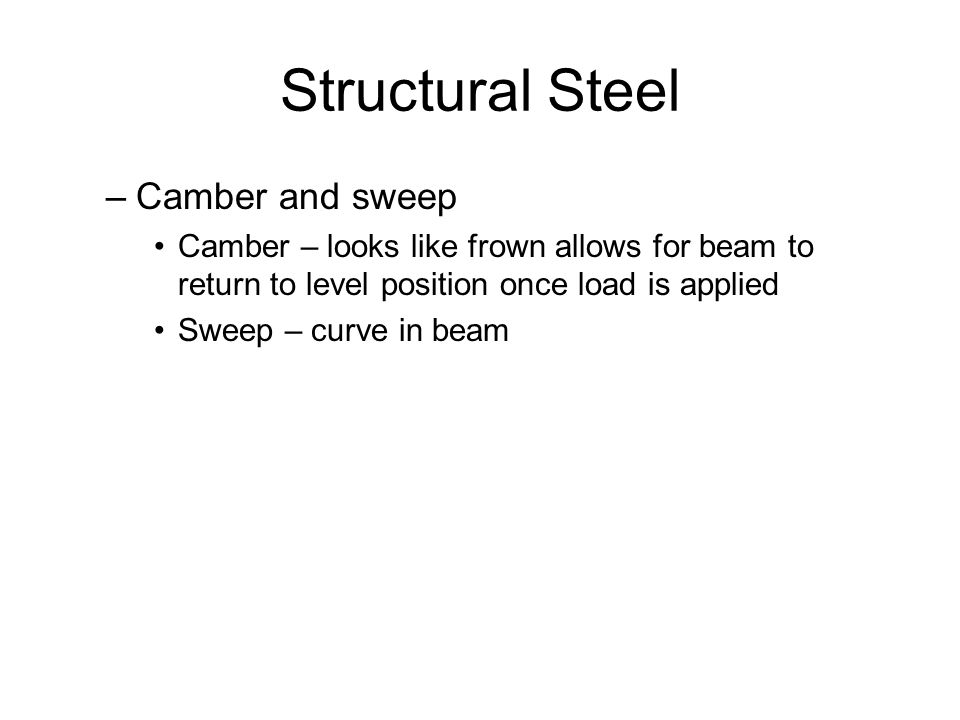Structural Steel Camber and sweep