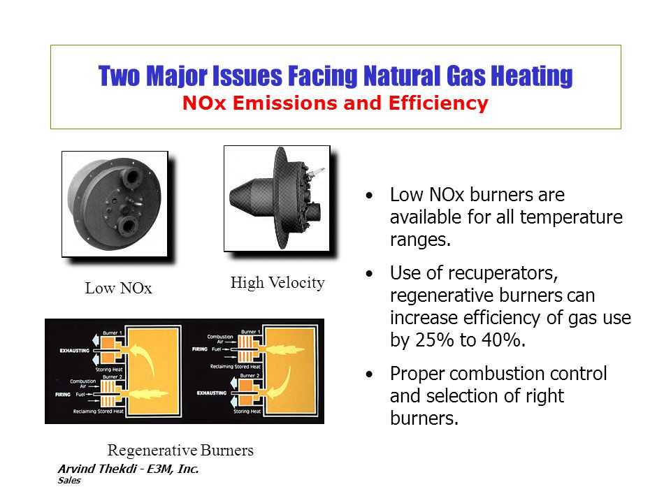 Two Major Issues Facing Natural Gas Heating NOx Emissions and Efficiency