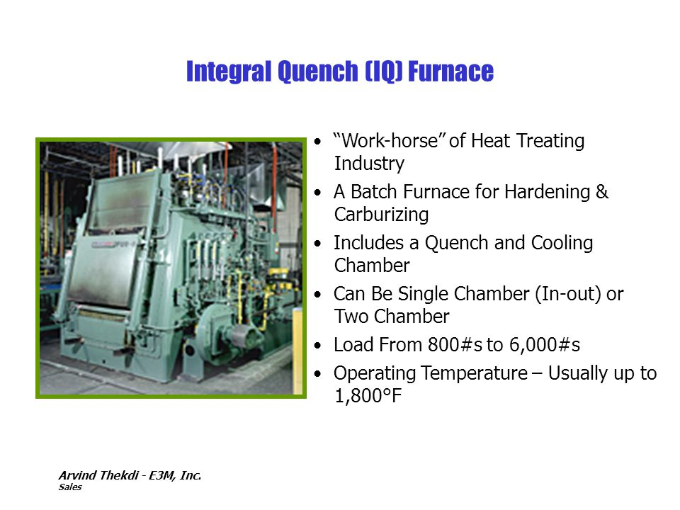Integral Quench (IQ) Furnace