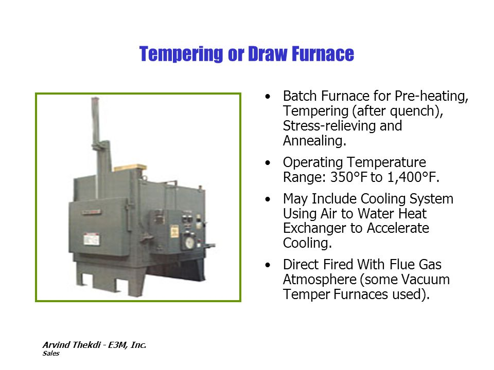 Tempering or Draw Furnace