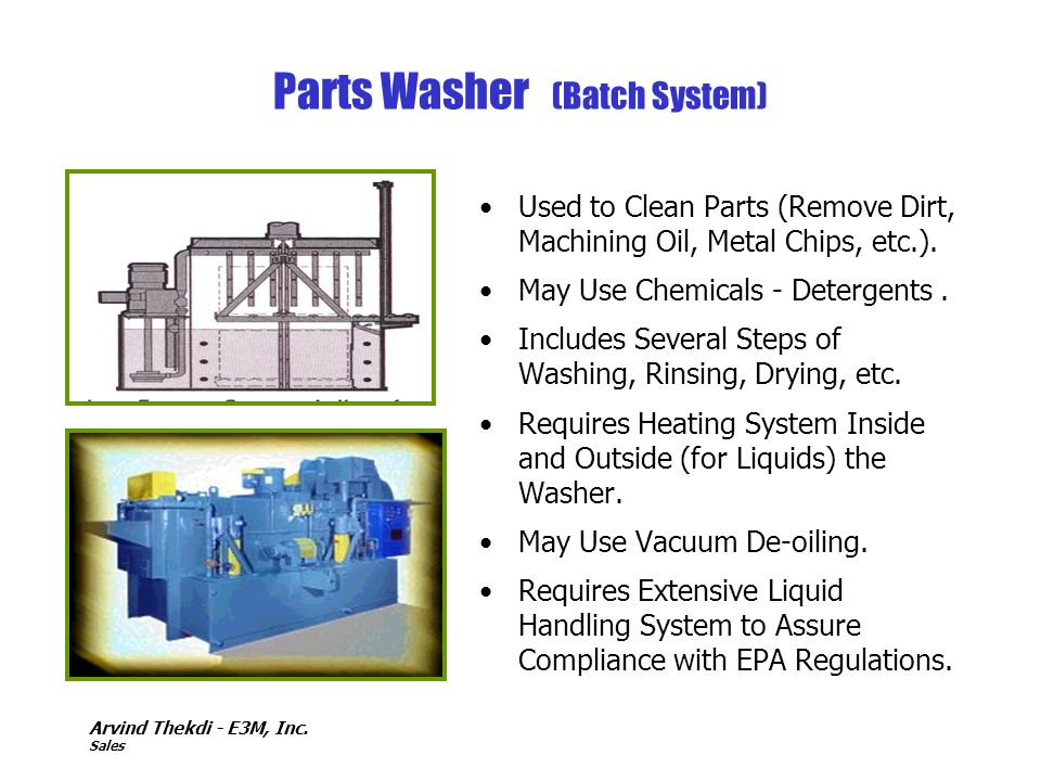 Parts Washer (Batch System)