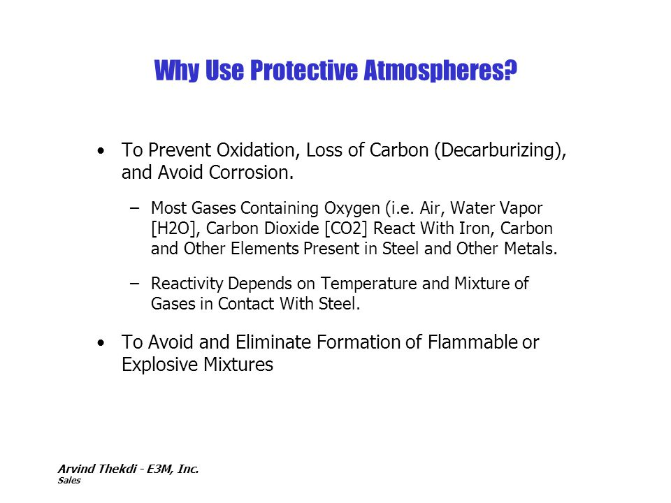 Why Use Protective Atmospheres