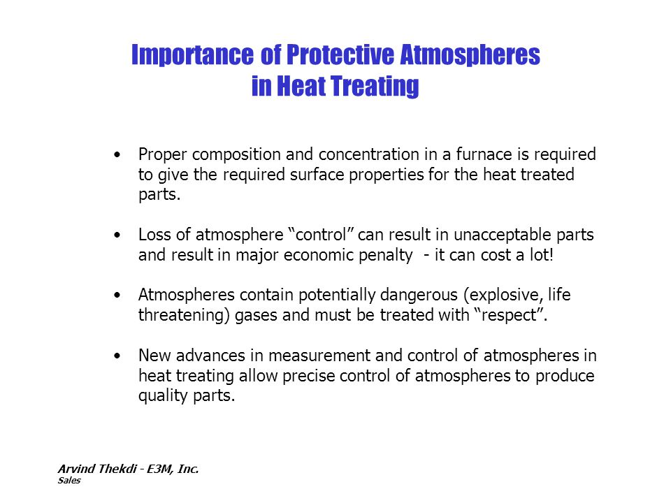 Importance of Protective Atmospheres in Heat Treating