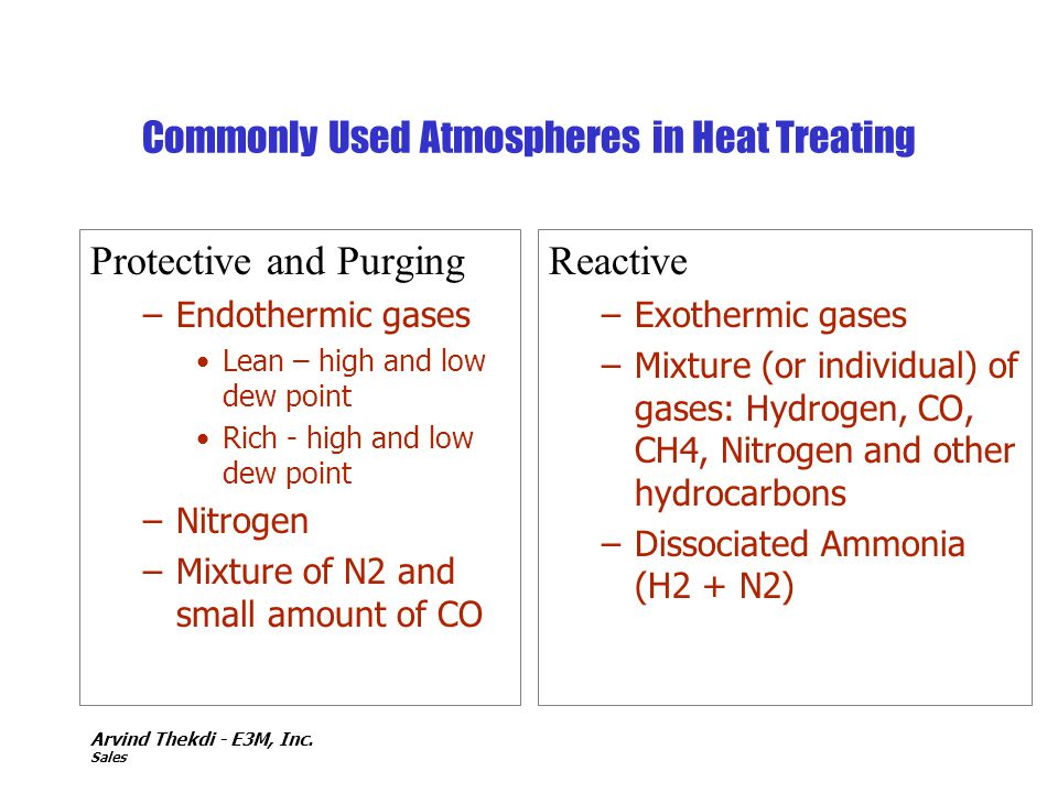 Commonly Used Atmospheres in Heat Treating
