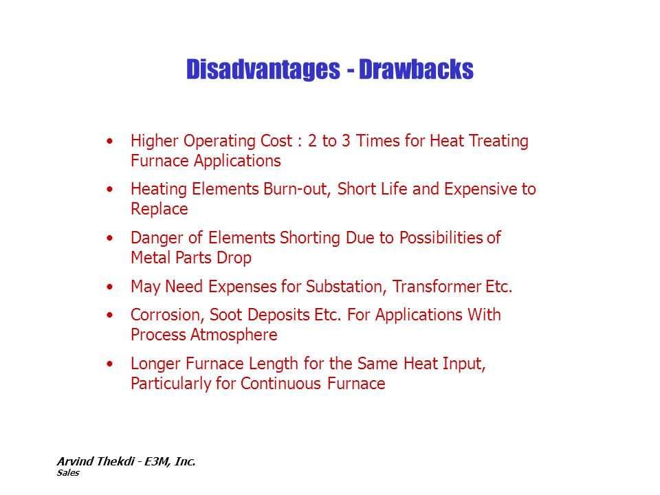 Disadvantages - Drawbacks