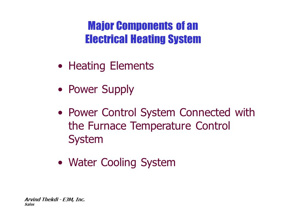 Major Components of an Electrical Heating System