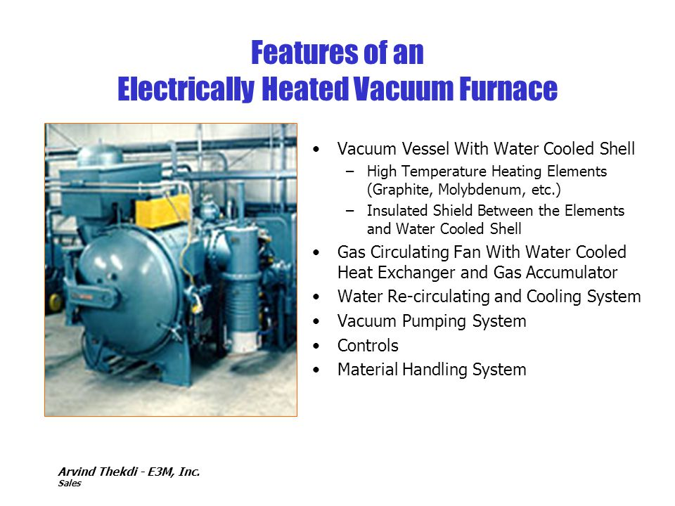 Features of an Electrically Heated Vacuum Furnace