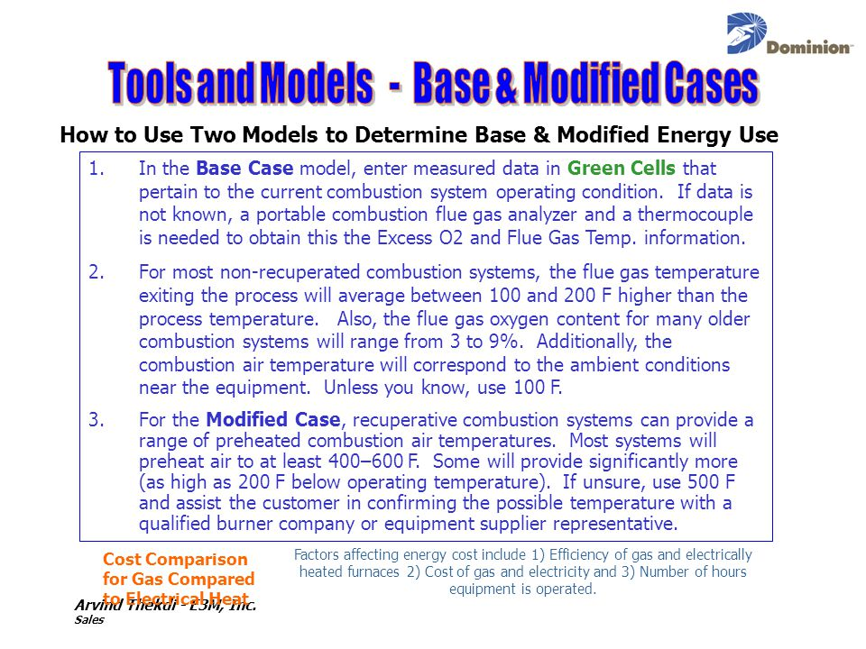 Tools and Models - Base & Modified Cases