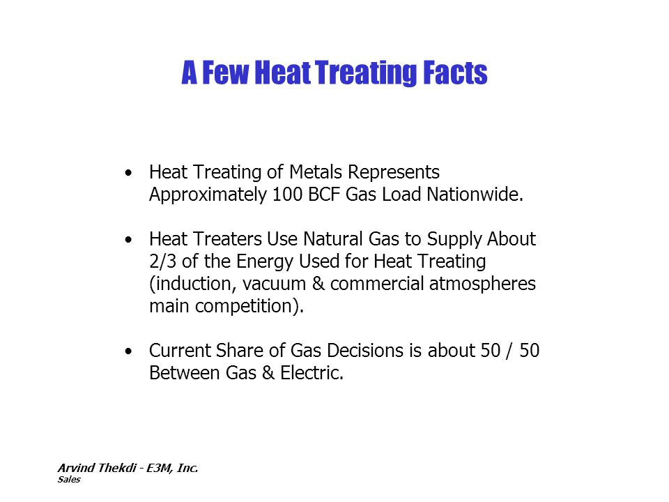 A Few Heat Treating Facts
