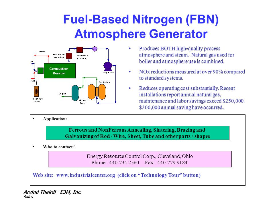 Fuel-Based Nitrogen (FBN) Atmosphere Generator