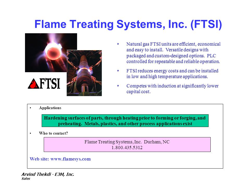 Flame Treating Systems, Inc. (FTSI)