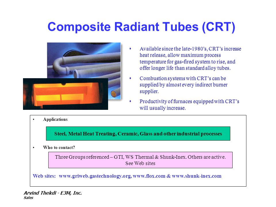 Composite Radiant Tubes (CRT)