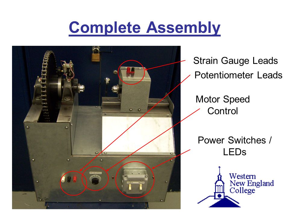 Complete Assembly Strain Gauge Leads Potentiometer Leads