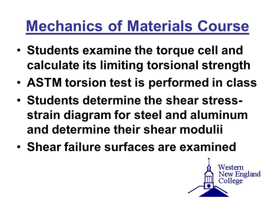 Mechanics of Materials Course