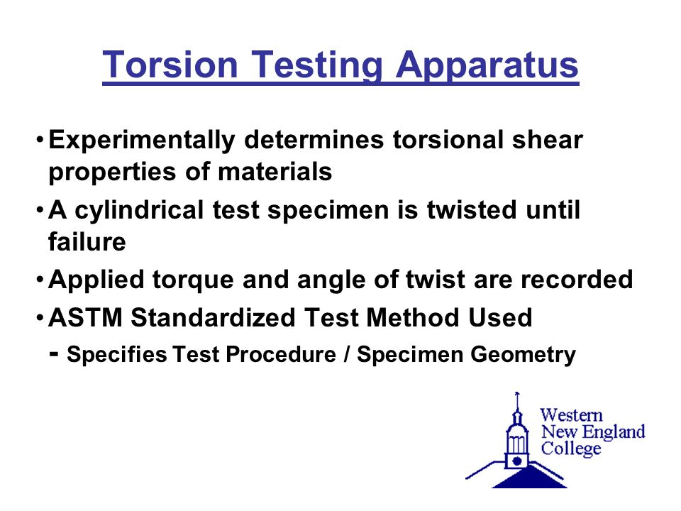 Torsion Testing Apparatus