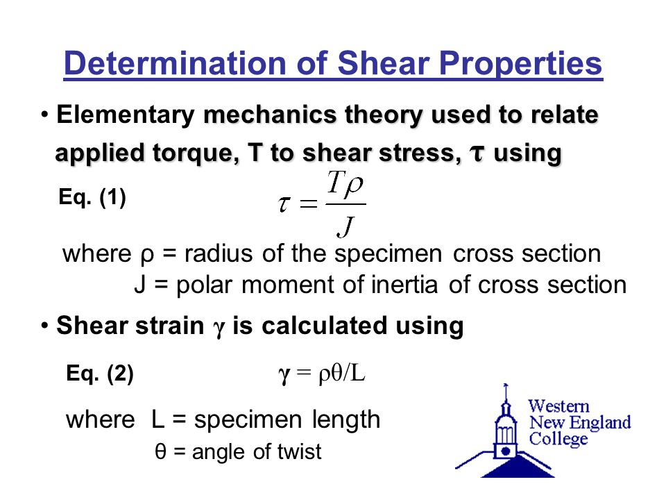 Determination of Shear Properties