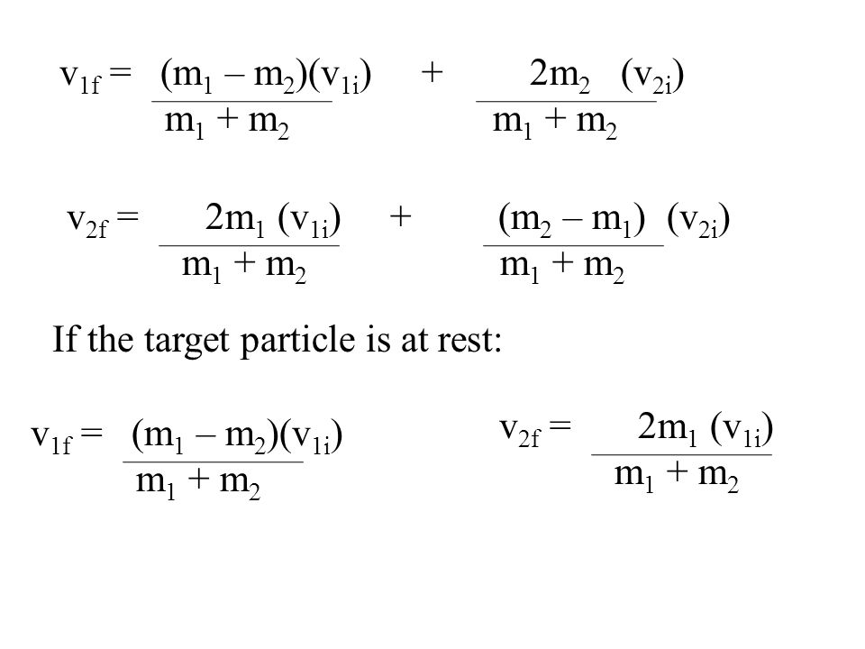 If the target particle is at rest: