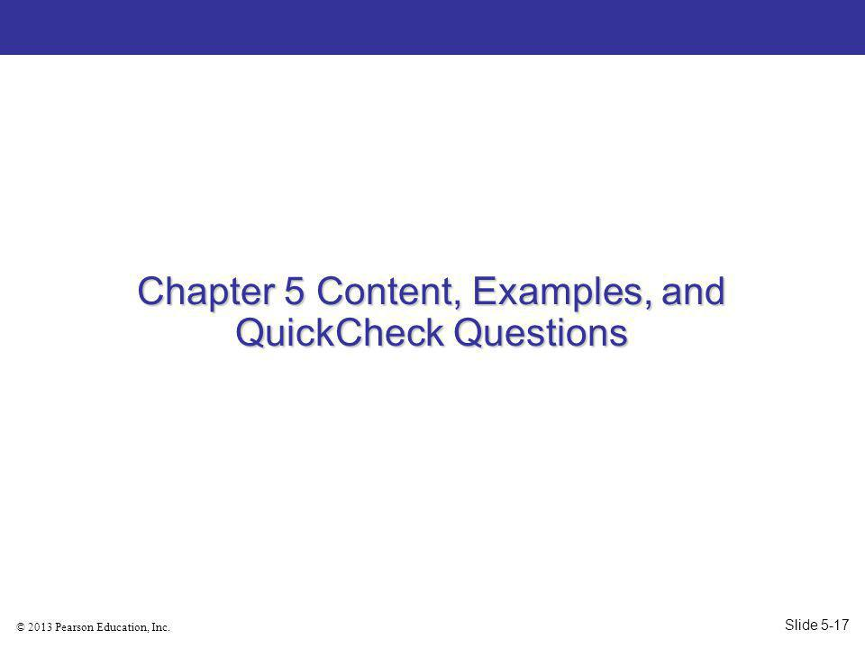 Chapter 5 Content, Examples, and QuickCheck Questions