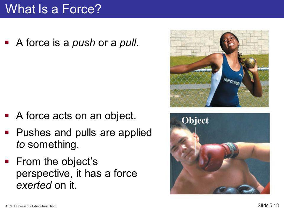 What Is a Force A force is a push or a pull.
