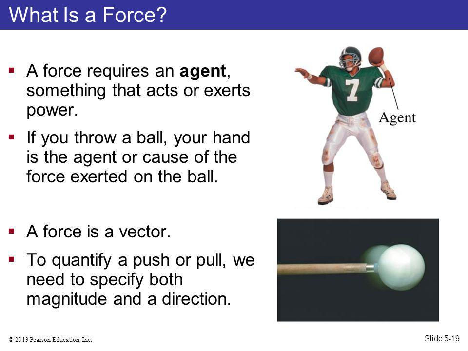 What Is a Force A force requires an agent, something that acts or exerts power.