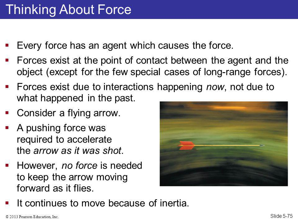 Thinking About Force Every force has an agent which causes the force.