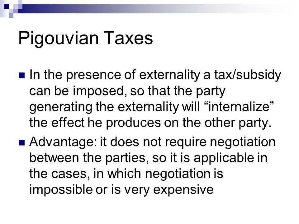 Pigouvian Taxes