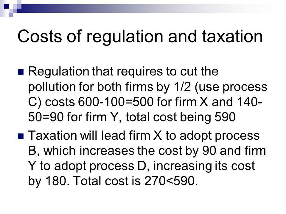 Costs of regulation and taxation