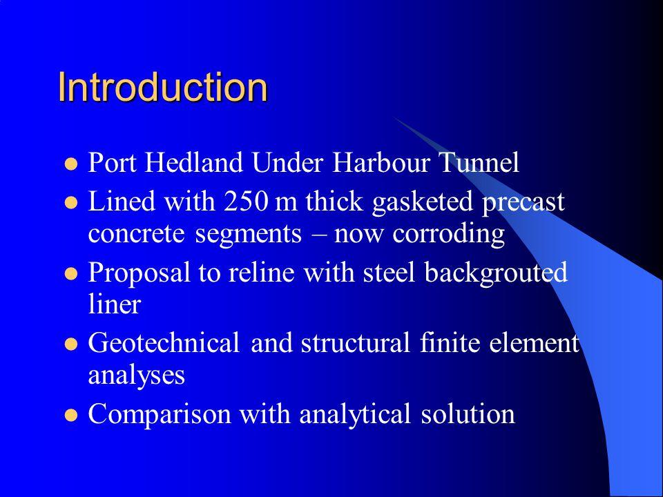 Introduction Port Hedland Under Harbour Tunnel