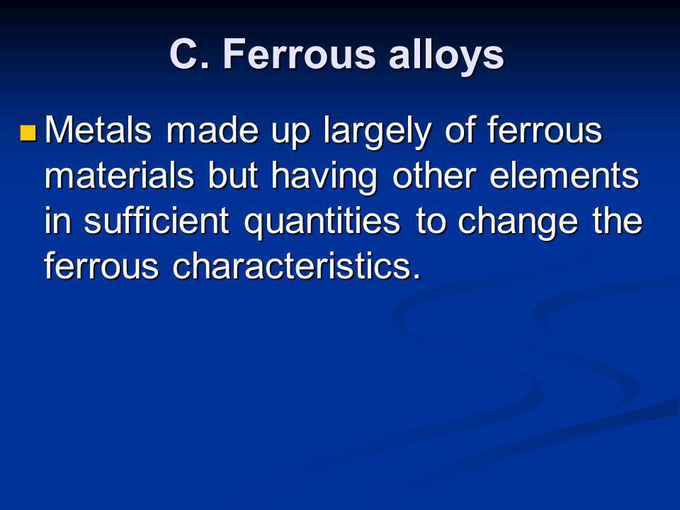 C. Ferrous alloys