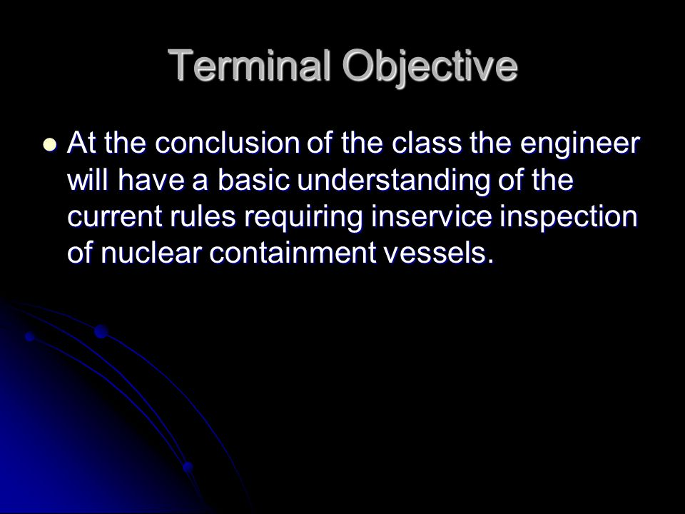 Terminal Objective