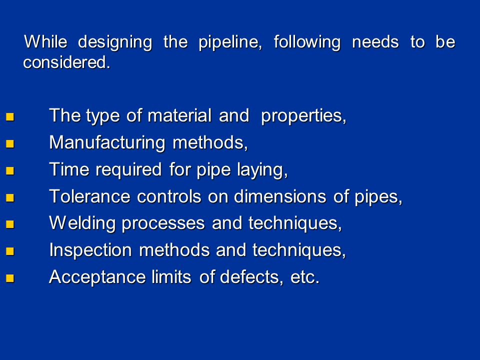 The type of material and properties, Manufacturing methods,