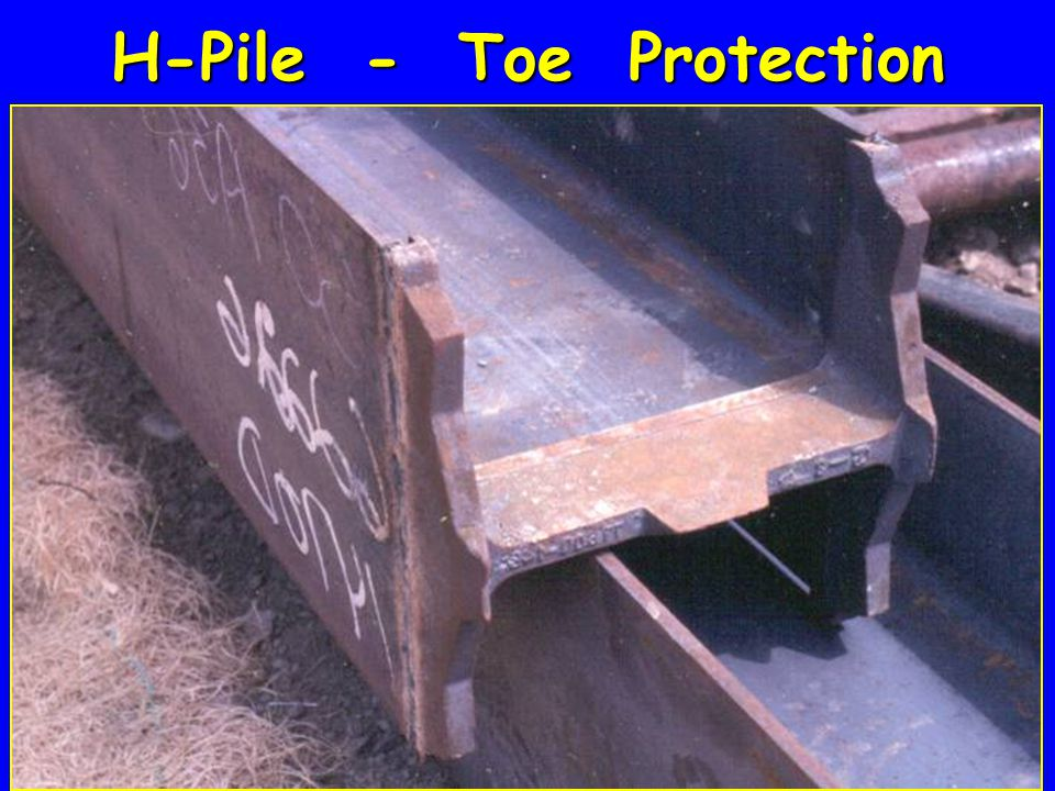 H-Pile - Toe Protection