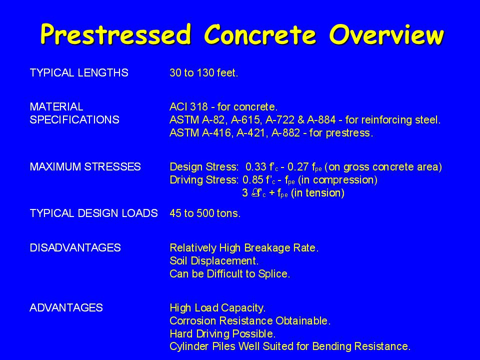 Prestressed Concrete Overview