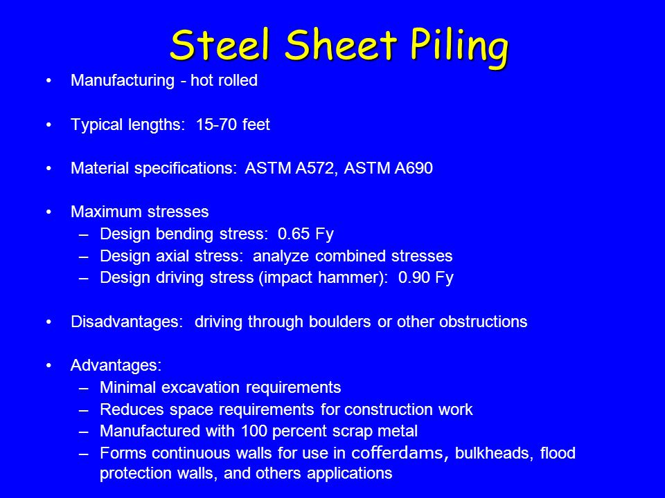 Steel Sheet Piling Manufacturing - hot rolled