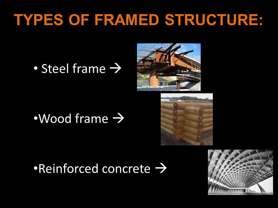 TYPES OF FRAMED STRUCTURE: