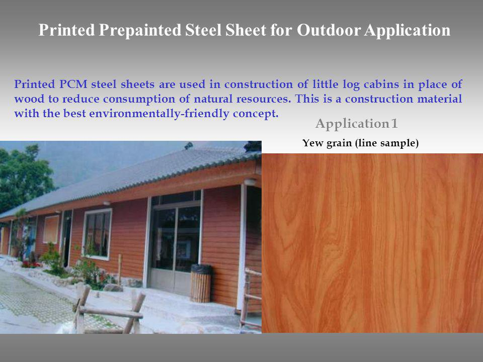 Printed Prepainted Steel Sheet for Outdoor Application