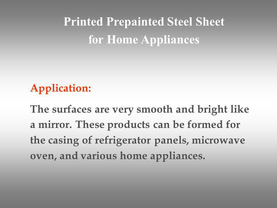 Printed Prepainted Steel Sheet