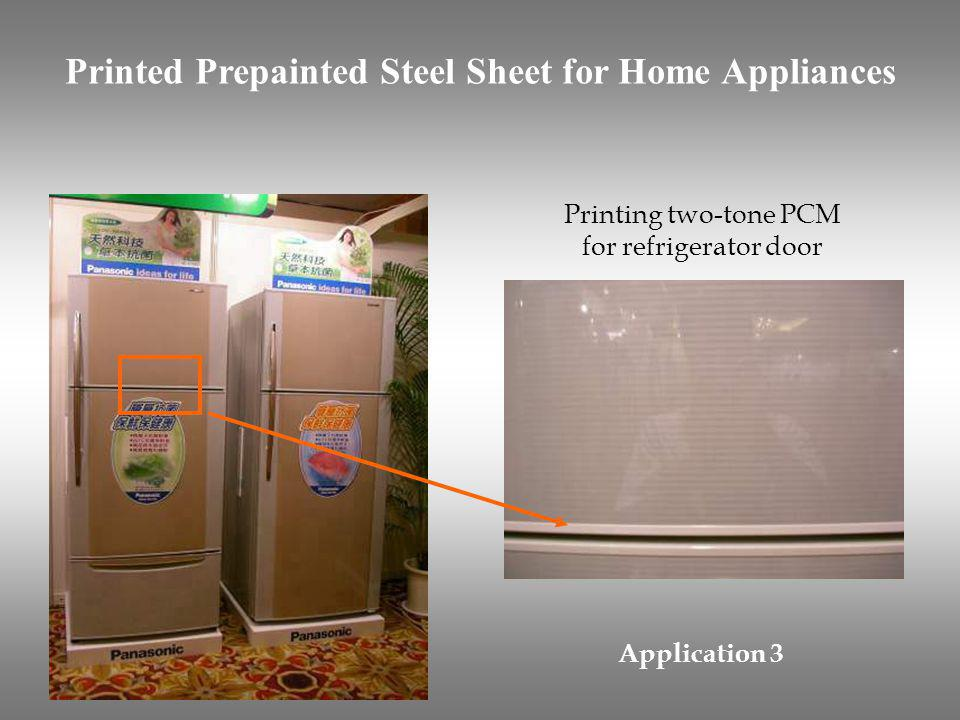 Printed Prepainted Steel Sheet for Home Appliances