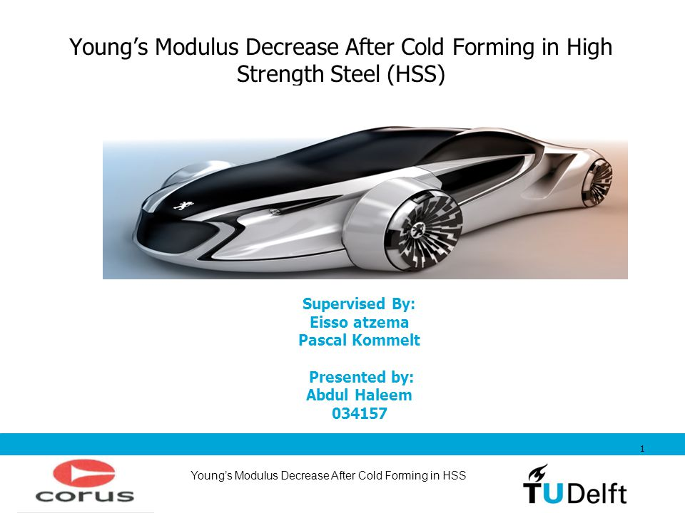 Young's Modulus Decrease After Cold Forming in High Strength Steel (HSS)