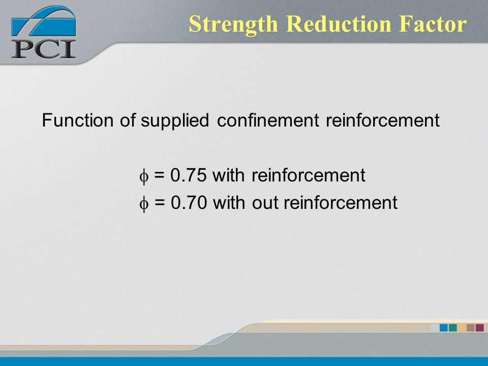 Strength Reduction Factor