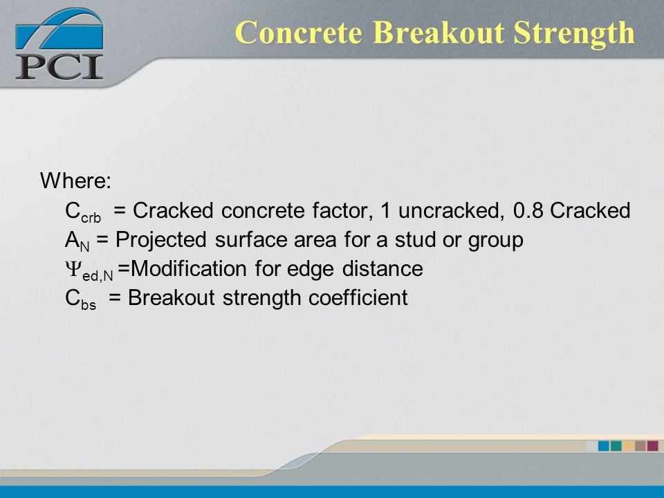 Concrete Breakout Strength