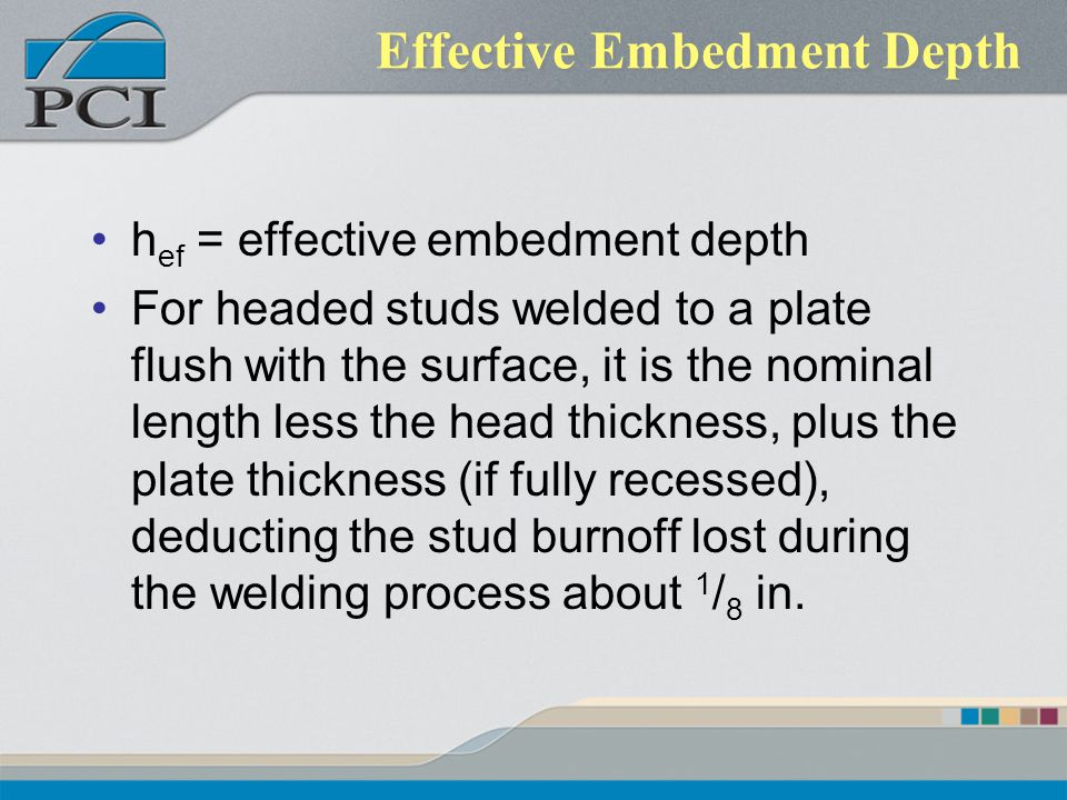Effective Embedment Depth
